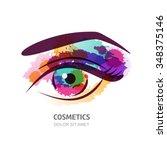 vector watercolor illustration... | Shutterstock .eps vector #348375146