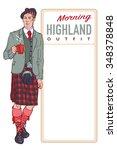 traditional scottish highland... | Shutterstock .eps vector #348378848