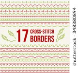 set of cross stitch pattern for ... | Shutterstock .eps vector #348380894