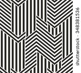 abstract modern twisted striped ... | Shutterstock .eps vector #348381536