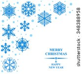 illustrations of christmas card ... | Shutterstock . vector #348388958