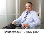 mature happy smiling business... | Shutterstock . vector #348391364