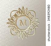 elegant  card with vintage...   Shutterstock .eps vector #348392480