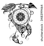indian dream catcher | Shutterstock .eps vector #348399464