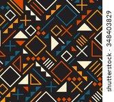 vector seamless retro 80's ...   Shutterstock .eps vector #348403829