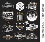 set of valentines label designs ... | Shutterstock .eps vector #348413693