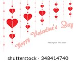 happy valentine's day   red... | Shutterstock .eps vector #348414740