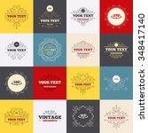vintage frames  labels. angle...   Shutterstock . vector #348417140