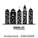 urban life concept with...   Shutterstock .eps vector #348418688