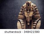 Stone Pharaoh Tutankhamen Mask...