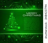 technology christmas tree. new... | Shutterstock .eps vector #348423794