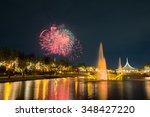fireworks for the thailand king ... | Shutterstock . vector #348427220