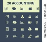 accounting  finance  icons ... | Shutterstock .eps vector #348431360