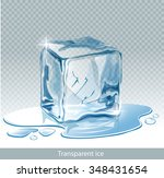 transparent  blue vector ice... | Shutterstock .eps vector #348431654