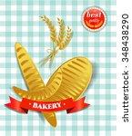 bakery   bread  croissant ... | Shutterstock .eps vector #348438290