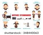 ten disease caused by computer... | Shutterstock .eps vector #348440063