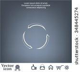 circular arrows vector icon | Shutterstock .eps vector #348445274