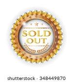 golden  bronzed rosette  medal... | Shutterstock .eps vector #348449870