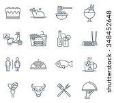 restaurant icon set suitable... | Shutterstock .eps vector #348452648