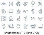 restaurant icon set suitable...