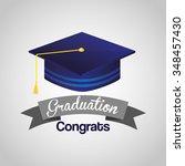 graduation concept design ... | Shutterstock .eps vector #348457430