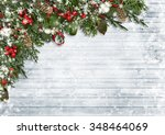 Christmas Background Of Holly ...