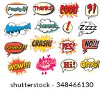 cool  smack  oops  wow  thanks  ... | Shutterstock .eps vector #348466130