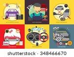 mechanic and car repair | Shutterstock .eps vector #348466670