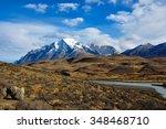 parque nacional torres del... | Shutterstock . vector #348468710