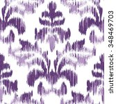 seamless faux fabric damask... | Shutterstock .eps vector #348469703