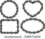 rose frames | Shutterstock .eps vector #348471644