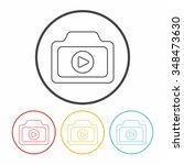 camera line icon | Shutterstock .eps vector #348473630