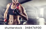 training young sports woman in... | Shutterstock . vector #348476930