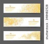 vector gold banner background | Shutterstock .eps vector #348482528