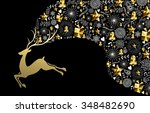 christmas new year concept... | Shutterstock .eps vector #348482690
