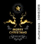 merry christmas happy new year... | Shutterstock .eps vector #348482858