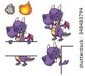 Purple Dragon Frame And Border...