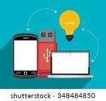 universal serial bus graphic... | Shutterstock .eps vector #348484850
