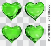 Set Of Four Transparent Hearts...