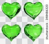 Set Of Four Transparent Hearts...