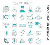 hotel services icons. modern... | Shutterstock .eps vector #348487283