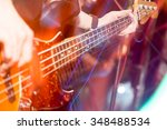 aggressive play guitar on stage | Shutterstock . vector #348488534