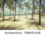palms with shadows on... | Shutterstock . vector #348491438