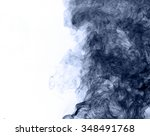 blue smoke on a white... | Shutterstock . vector #348491768