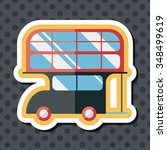 transportation bus flat icon... | Shutterstock .eps vector #348499619