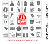 store set vector icons | Shutterstock .eps vector #348500390