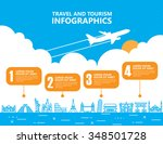 travel infographics  landmark... | Shutterstock .eps vector #348501728