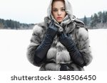 Beauty Model Girl In Winter...