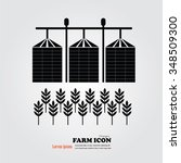 grain silo.silo and rice.vector ... | Shutterstock .eps vector #348509300