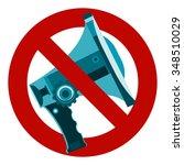 Do Not Speak Icon. The Symbol...